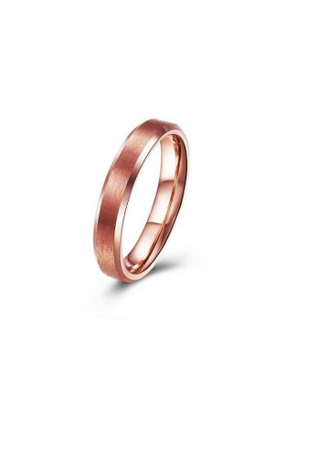 ADORA Stainless Steel Rose Gold Ring AD365AC2V0ROHK_1