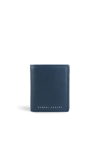Samuel Ashley navy Chandler Vertical Bi-fold w/ Coin Case (RFID) - Navy 1F866AC25684C1GS_1