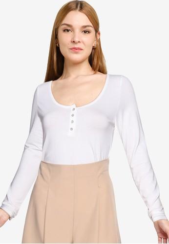 Mango white Buttoned Cotton T-shirt 3C7D9AA1B3F11EGS_1