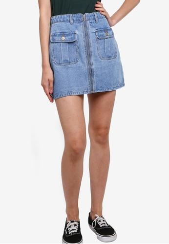 Something Borrowed 藍色 牛仔短裙 AC8E0AA6B3888DGS_1