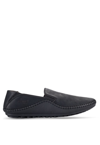 Louis Cuppers black Stitched Loafers LO977SH46RCNMY_1