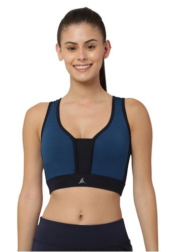 Fitleasure blue Fitleasure Breathable Workout Blue Sports Bra 50805US085073FGS_1