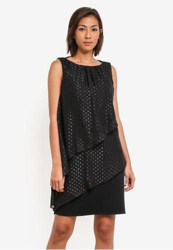 Buy Wallis Petite Black Metallic Shift Dress Zalora Hk