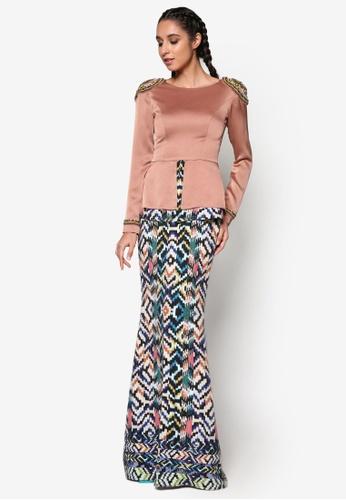 Jovian Mandagie for Zalora pink and multi Zafia Modern Dress JO948AA37WPIMY_1