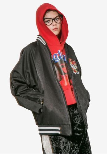 Nesprit 台中ightcall 刺繡圖案棒球外套, 服飾, 外套