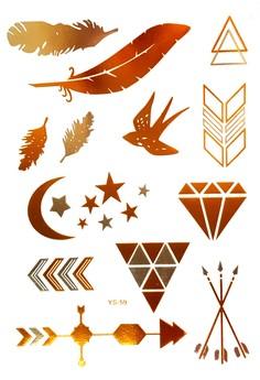 La Chiva Metallic Tattoo