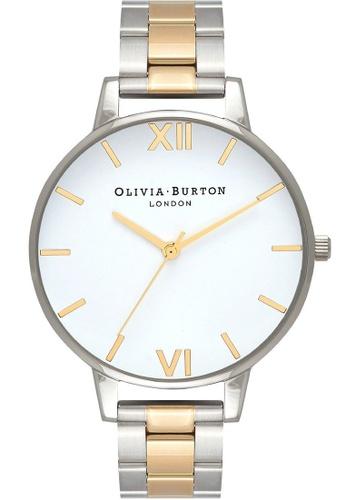 Olivia Burton silver Olivia Burton WHITE DIAL BIG DIAL  Silver & Gold 38 Women's Watch 43A2DACE3C1F99GS_1