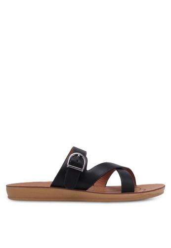 Noveni black Strappy Sandals NO978SH0RX31MY_1