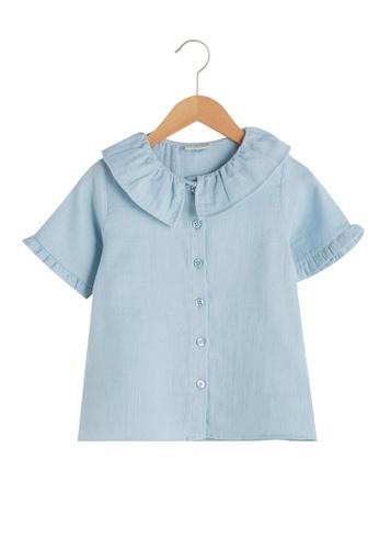 LC Waikiki blue Cotton Blouse 9033FKAF71E567GS_1