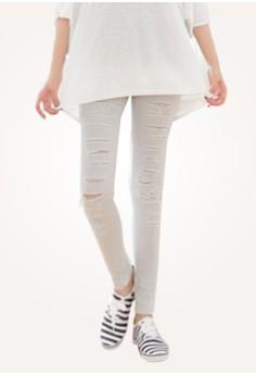 Distressed Rebellion Skinny Pants