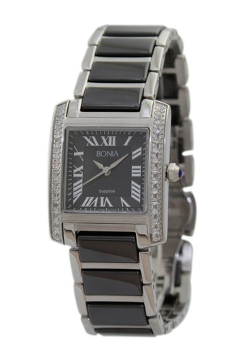 BONIA black and silver Bonia B10124-2331S - Jam Tangan Wanita - Black Silver BO710AC35ADOID_1