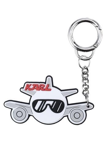 KARL LAGERFELD white K/Jet Plane Keychain KA533AC61XDUMY_1