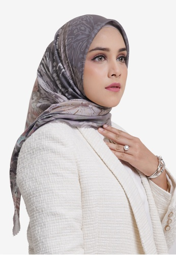Buttonscarves grey Buttonscarves The Farsha Voile Square Seagrass 99232AA2C2D6A4GS_1