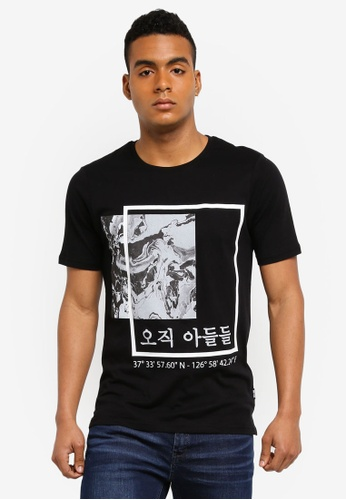 Only & Sons black Sean Short Sleeve Tee EB857AACE44868GS_1