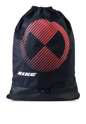 Nike black and grey Brasilia Gym Sack Bag 011AEAC48F1EA2GS_1