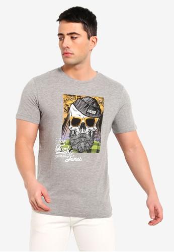 Jack & Jones grey Newbelboy Printed Tee 943C0AAEF0FC99GS_1