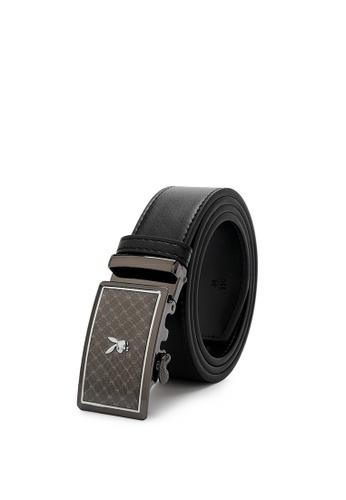 Playboy black Men's Belt - 35mm Automatic Buckle C50E5AC05A88ACGS_1