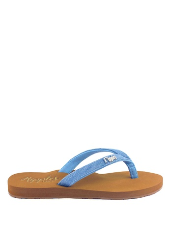 Ripples blue Ella Arch Support Sandals (Light Denim) D6E91SHFED5820GS_1