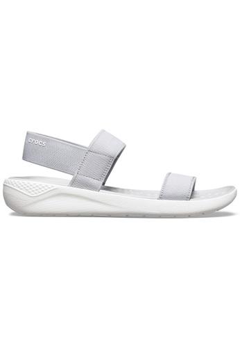 Crocs grey Women's LiteRide™ Sandal Lgr/Whi F4D4DSH9A01AFAGS_1