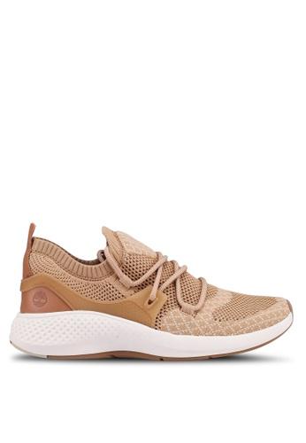Timberland beige Flyroam Go Knit Oxford Shoes BB6DESH48C22B9GS_1