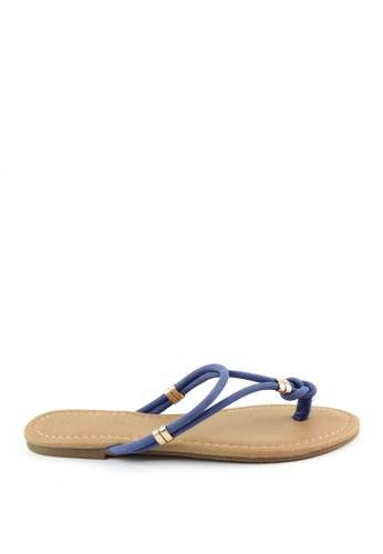 London Rag blue Toe Post With Gold Trims 0A704SH551F33EGS_1