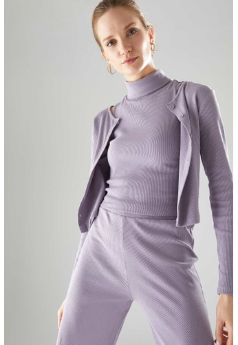 DeFacto purple Woman Knitted Cardigan 0AD62AA5E82821GS_1