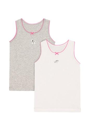 Mothercare pink Mothercare - dalmatian vests - 2 pack 08858KA5A501FBGS_1