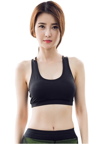 YG Fitness black Sexy Quick-Drying Running Fitness Yoga Bra 154DFUSE2E2223GS_1