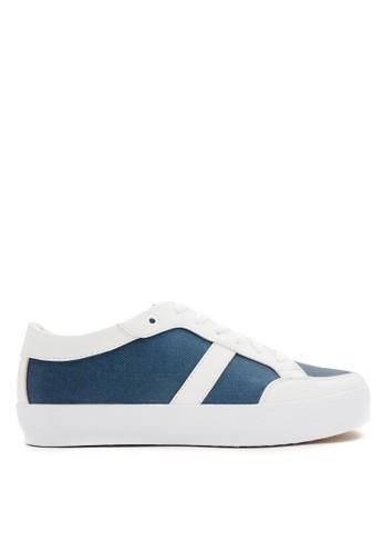 CDE blue Nero Men Sneaker - White Blue Denim 3EAB9SHFF2AEA5GS_1