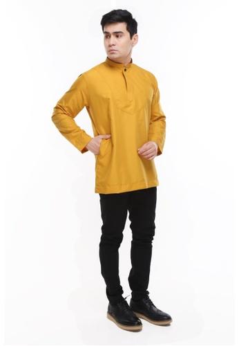 Amar Amran yellow Kurta Al Idrus 2.0 8A978AA4F00254GS_1