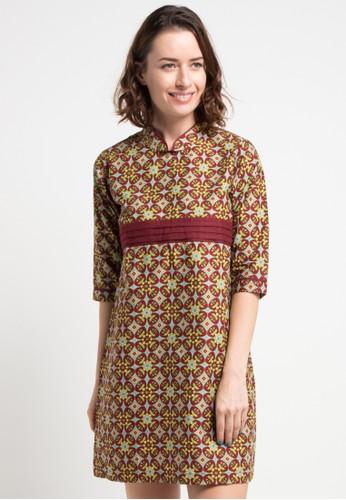 Batik Indra Loka red Long Sleeve Dress Kelir 47101AA7E70194GS_1