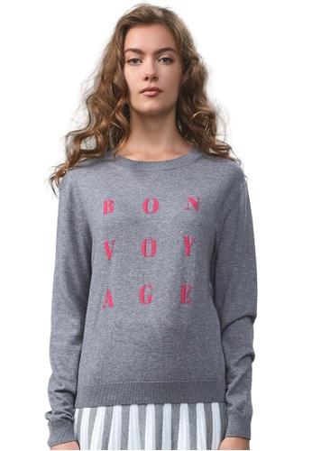 22 Factor grey Bon Voyage Knit Sweater 6E89FAA8D14E2FGS_1