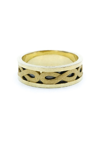 Shop Silverworks Gold Plated Infinity Ring Online On Zalora Philippines
