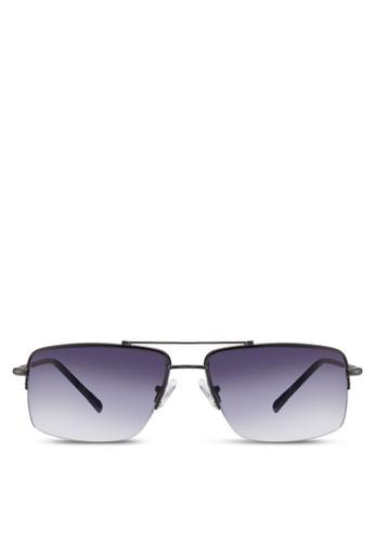 時尚半方框太陽眼鏡, 飾品配件zalora退貨, 長框