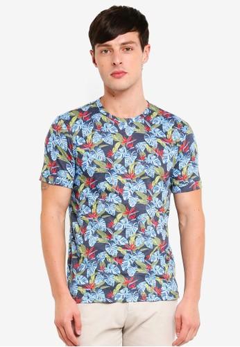UniqTee multi Side Split Printed T-Shirt CCB0AAA329B88EGS_1
