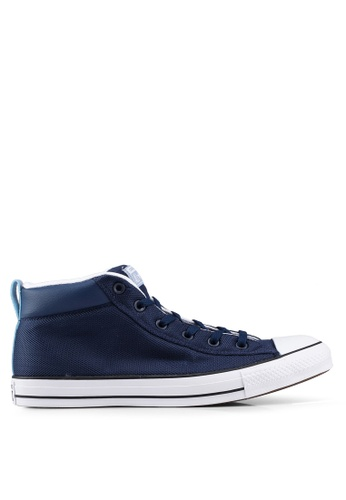 Converse navy Chuck Taylor All Star Street Uniform Mid Sneakers E2D9DSHE897A2FGS_1
