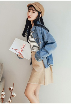 c268e64463 30% OFF Tokichoi Raw Hem Double Pocket Denim Jacket RM 239.00 NOW RM 166.90  Sizes One Size