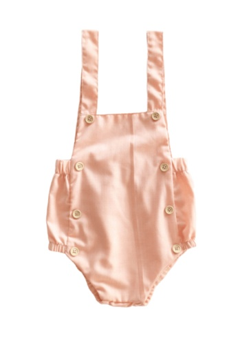 RAISING LITTLE pink Jaime Romper - Peach D0913KA74E6156GS_1
