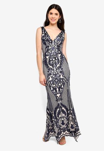 9b2f9aabd91 Shop Goddiva Sleeveless Empire Maxi Dress Online on ZALORA Philippines