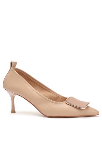 Twenty Eight Shoes 6.5CM Square Buckle Synthetic Leather Round Toe Pumps 2065-18 9CC93SHC492882GS_1