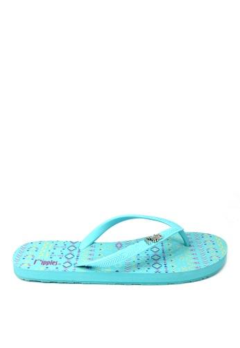 Ripples blue Arika Aztec Flip Flops 09162SHC3F6EBDGS_1