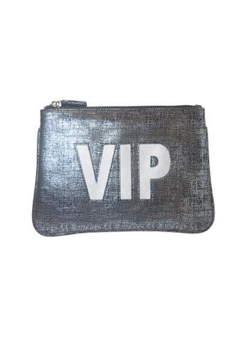 Stylesource silver Medium VIP Pouch Metallic ST896AC24NUXPH_1