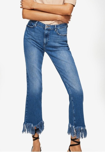 Mango blue Frayed Edges Jeans 1C8F3AA5BA293DGS_1