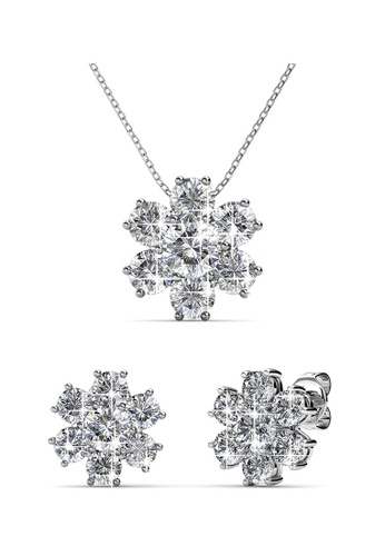 2dbaf4f3a91bd2 Her Jewellery silver Elegant Flower Set embellished with Crystals from  Swarovski HE210AC69QSKSG 1