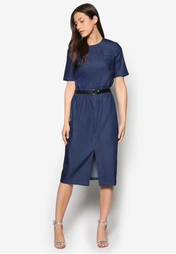 Collection 腰帶丹寧及膝洋裝, 服飾, 洋esprit旗艦店裝
