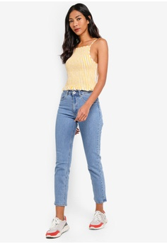 1f2c778b4fefb 32% OFF Factorie High Rise Straight Leg Jeans S$ 49.95 NOW S$ 33.90 Sizes 8  10 12 14