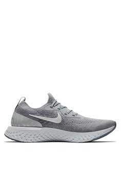 Nike grey Men's Nike Epic React Flyknit Running Shoes EF7A4SHE1CF716GS_1