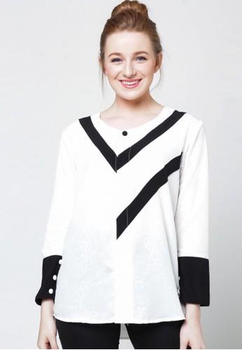 Ellysa Nadine Combine Shirt White