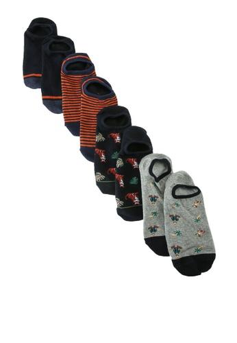 Springfield blue 5-Pack No-Show Socks 1576EAAC9E7483GS_1