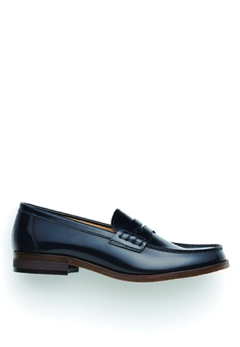 HARUTA 黑色 男裝樂福皮鞋-920 5FA63SH0E6B311GS_1